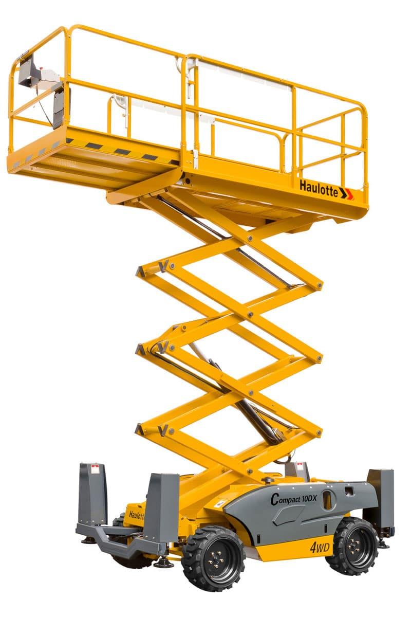 compact 10 dx diesel scissor lift sterling access image 02jpg - Compact 10 DX - Diesel Scissor Lift For Hire