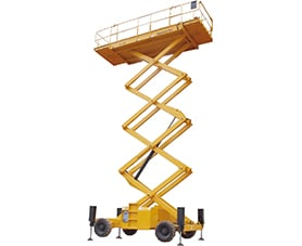 sterling access h12 sx diesel scissor lift for hire image 01 - Scissor Lifts For Hire