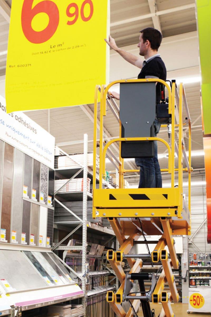 sterling access optimum 8 electric scissor lift image 02 - Optimum 8 - Electric Scissor Lift For Hire